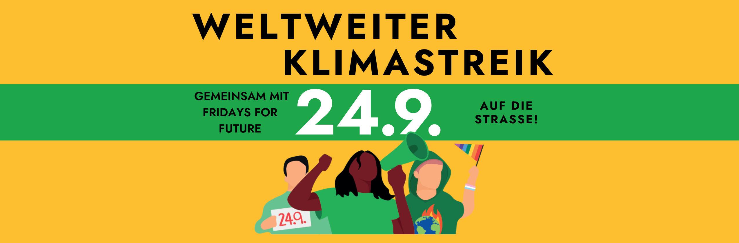 Weltweiter Klimastreik am 24. September 2021 - save the date